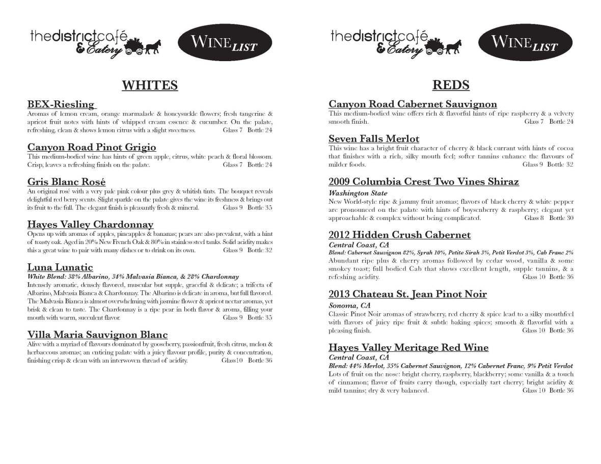 Wine List 10-15